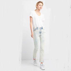GAP denim 25 slim straight acid wash 80s jeans
